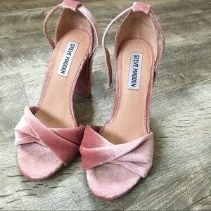 Steve Madden pink velvet heels